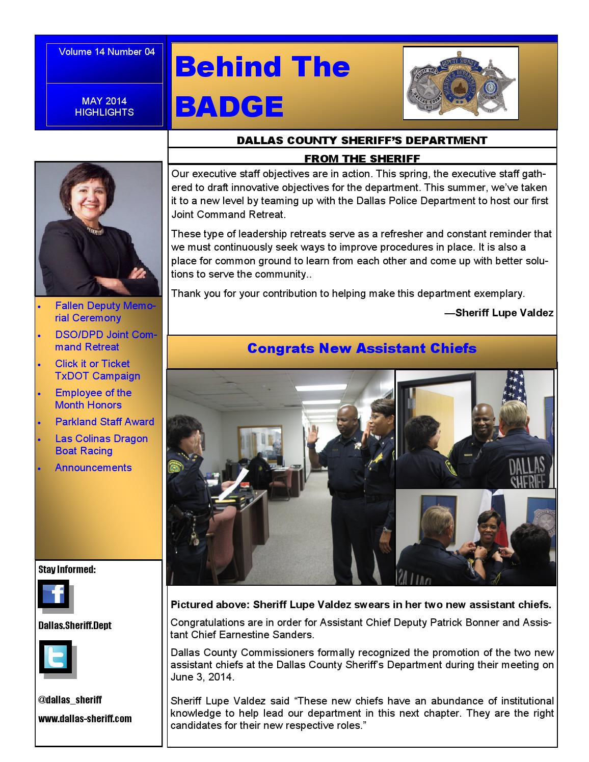 Behind the Badge: May 2014 Highlights by Dallas County