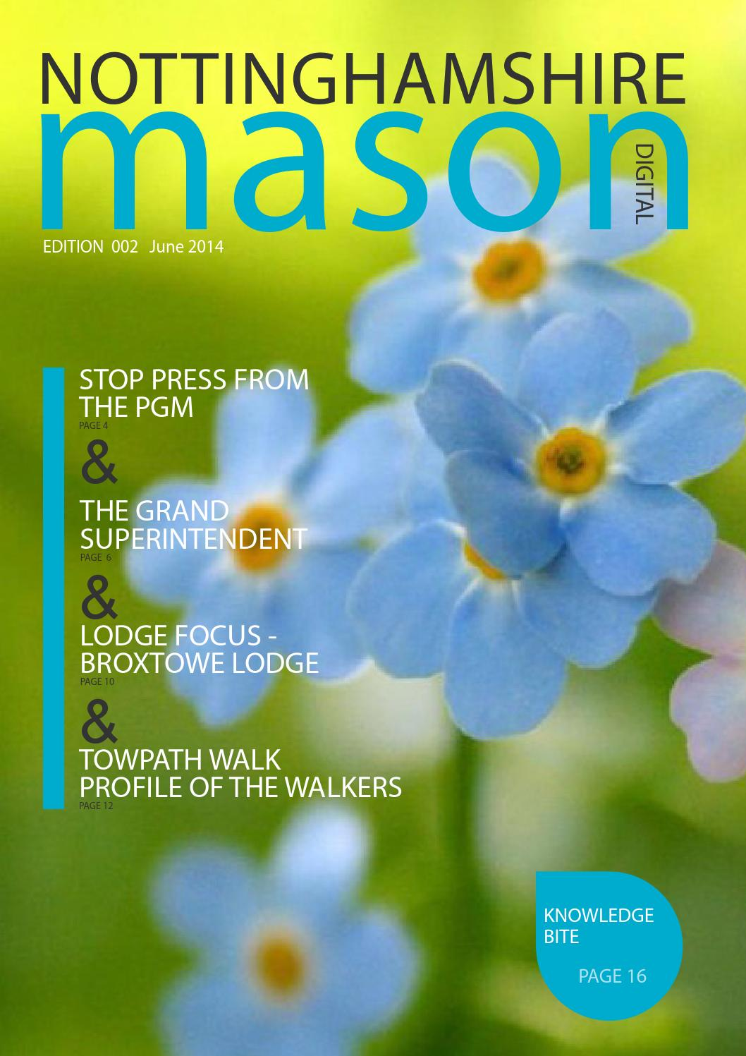 Nottinghamshire Mason Edition 2 by Kevin Rolling - issuu