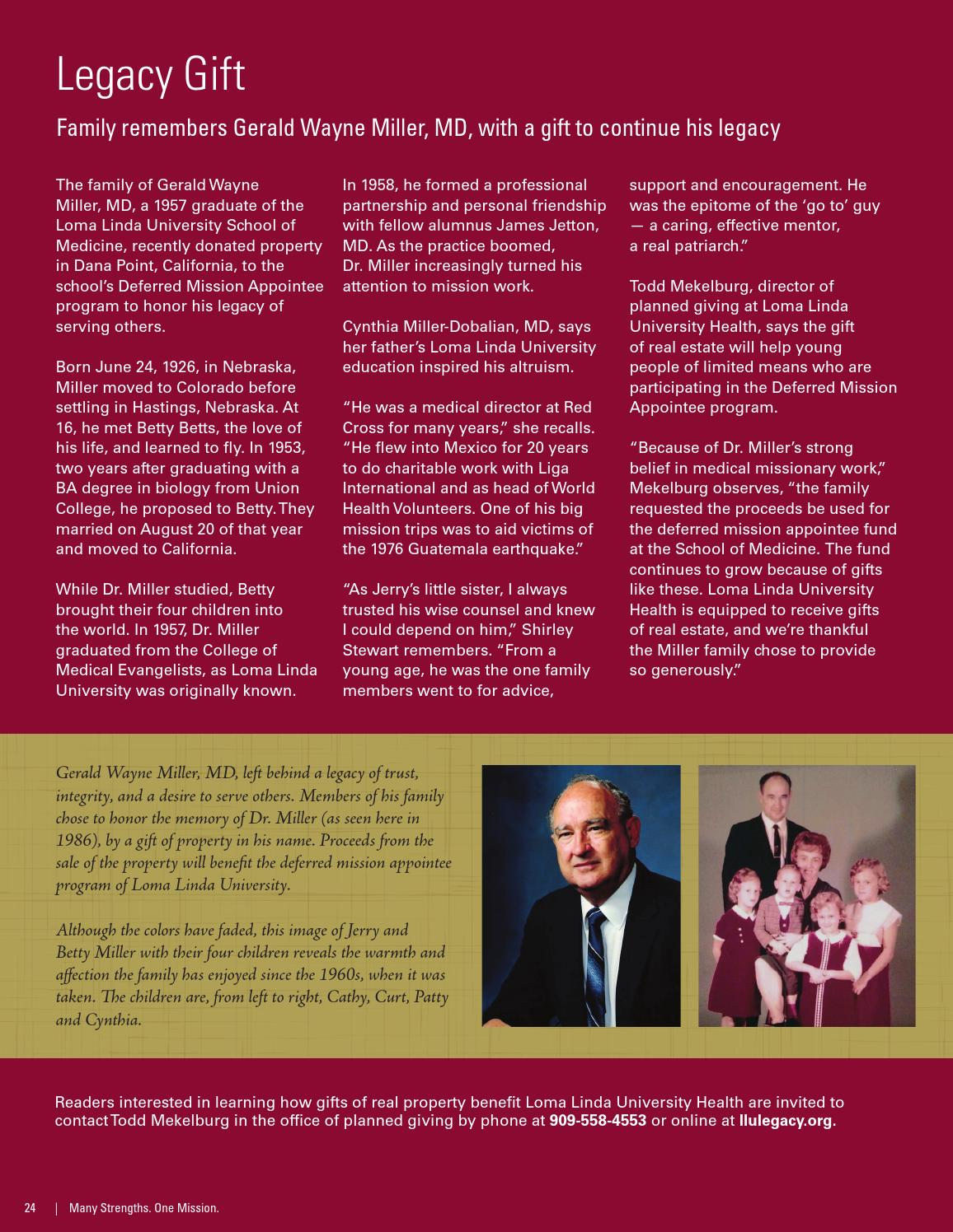 2013 LLUH Annual Report by Loma Linda University Health - issuu