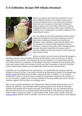 Blendtec Recipes PDF EBooks Download by childlikealbum848