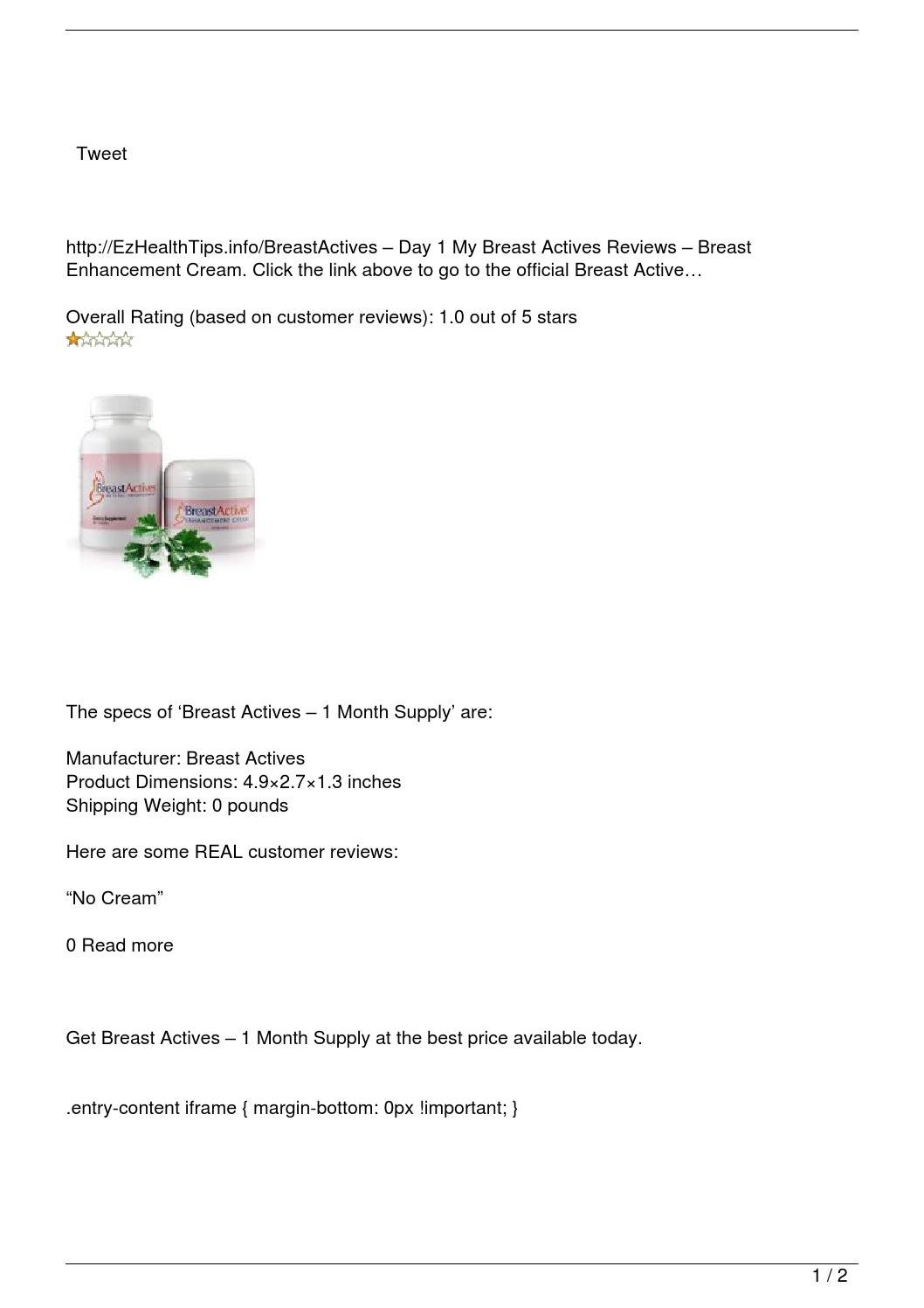 Breast Actives 8211 1 Month Supply Review By Dana Prasek Issuu