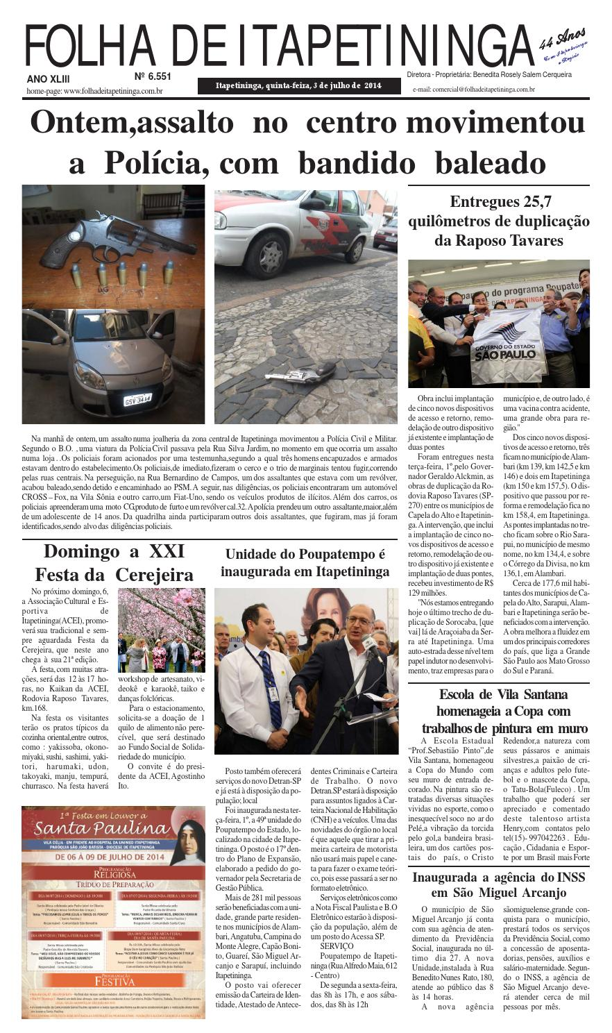 Folha de Itapetininga 03 07 2014 by Jornal Folha de Itapetininga - issuu 3818727b93