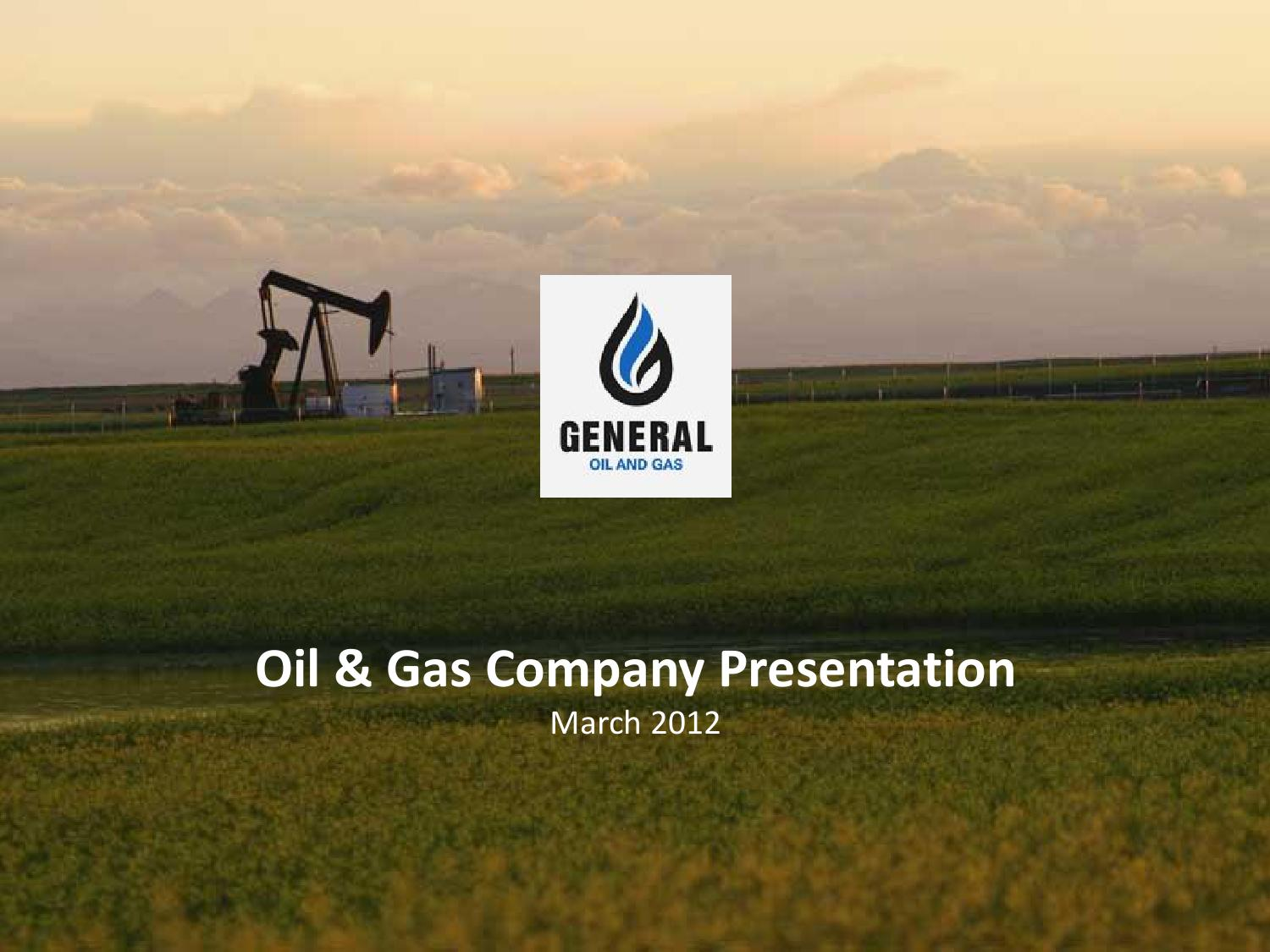 sample business plan powerpoint - oil & gaswanda halpert - issuu, Presentation templates