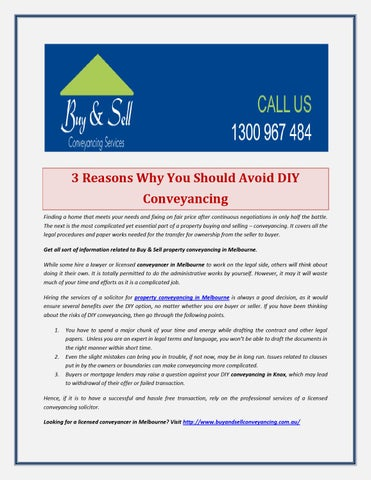 3 reasons why you should avoid diy conveyancing by 3 reasons why you should avoid diy conveyancing finding a home that meets your needs and fixing on fair price after continuous negotiations in only half the solutioingenieria Gallery
