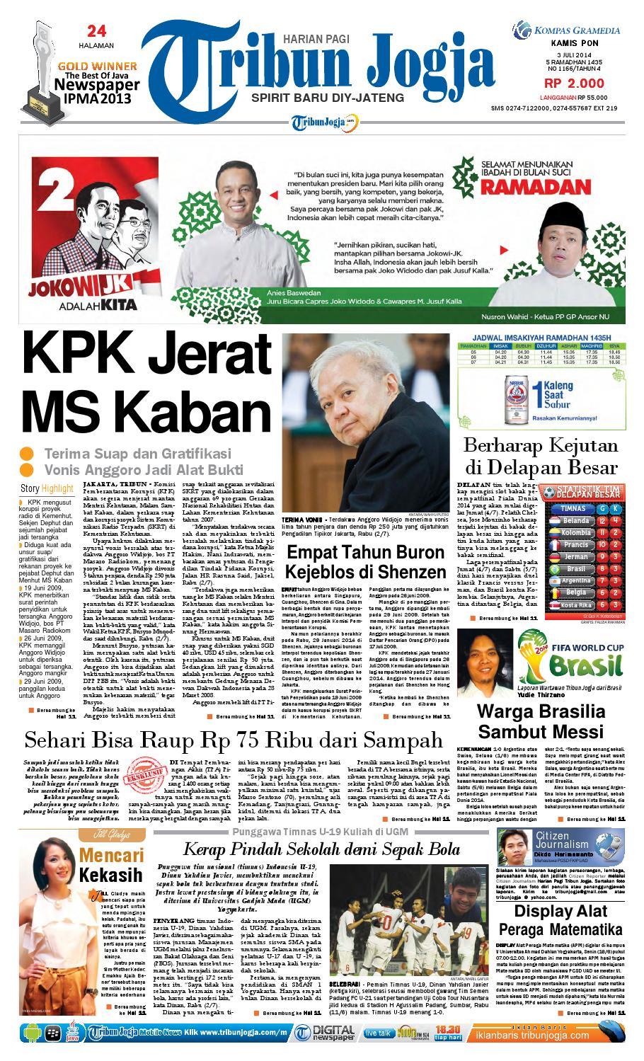 Tribunjogja 03 07 2014 By Tribun Jogja Issuu Tcash Vaganza 34 Kripiss Medan Manis