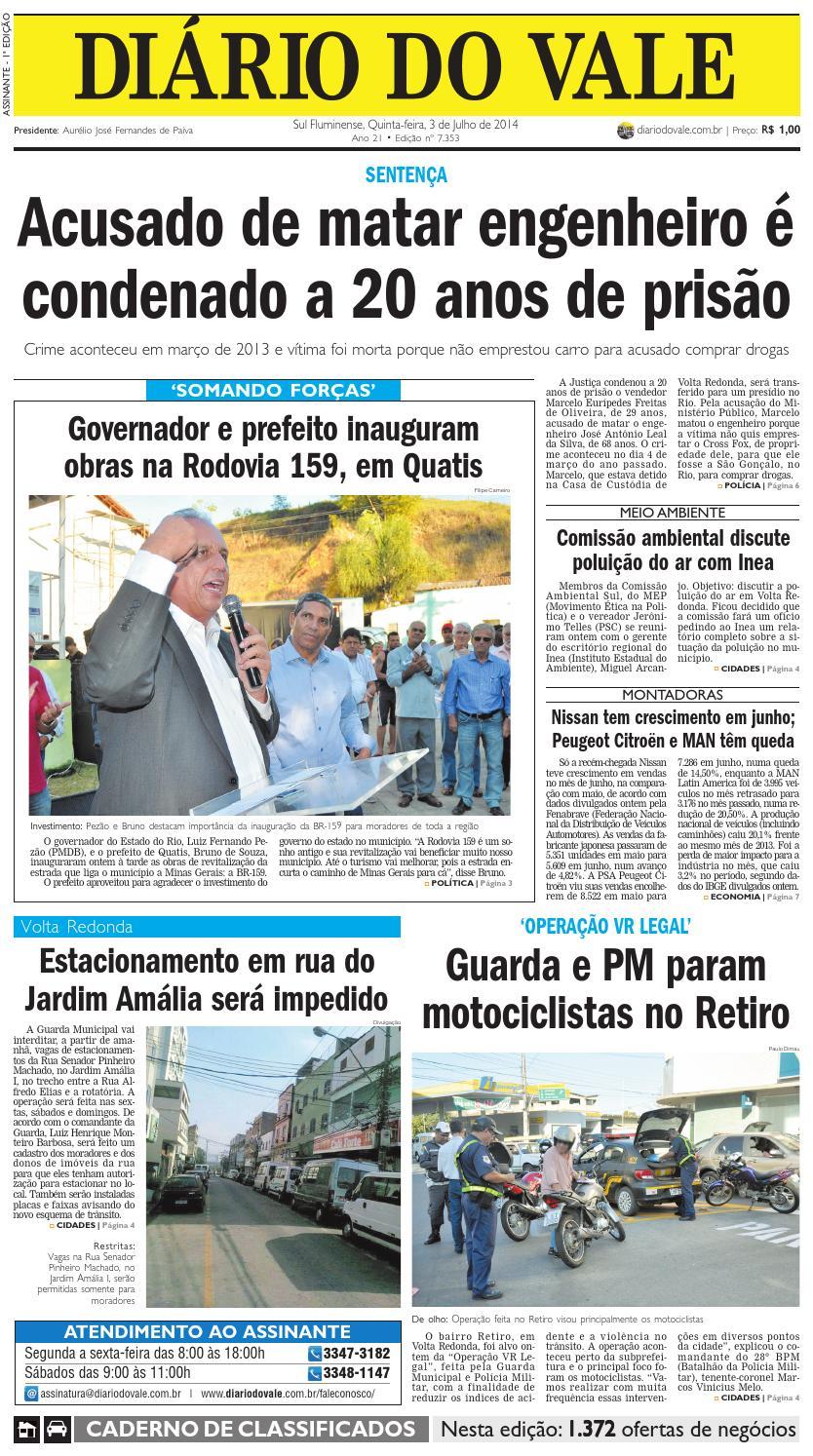 c28c1a1ed1a 7353 diario quinta feira 03 07 2014 by Diário do Vale - issuu