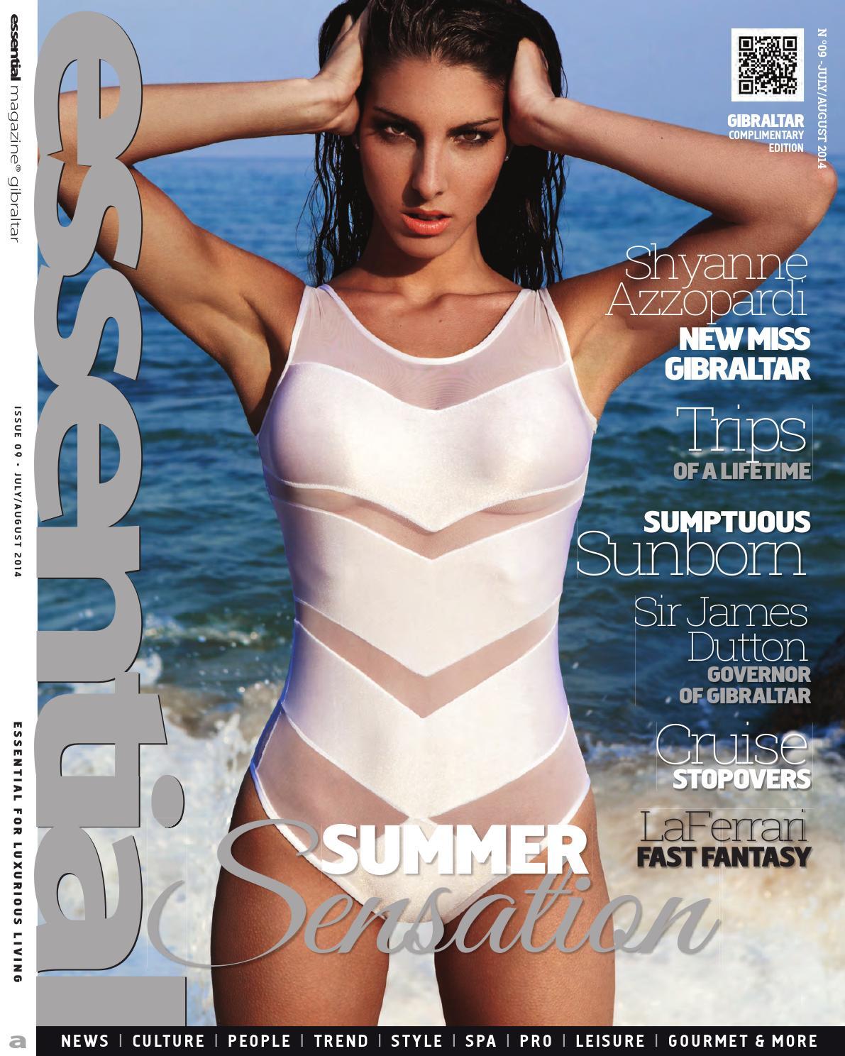 Amy Dumas Sexy essential gibraltar july 2014publicaciones