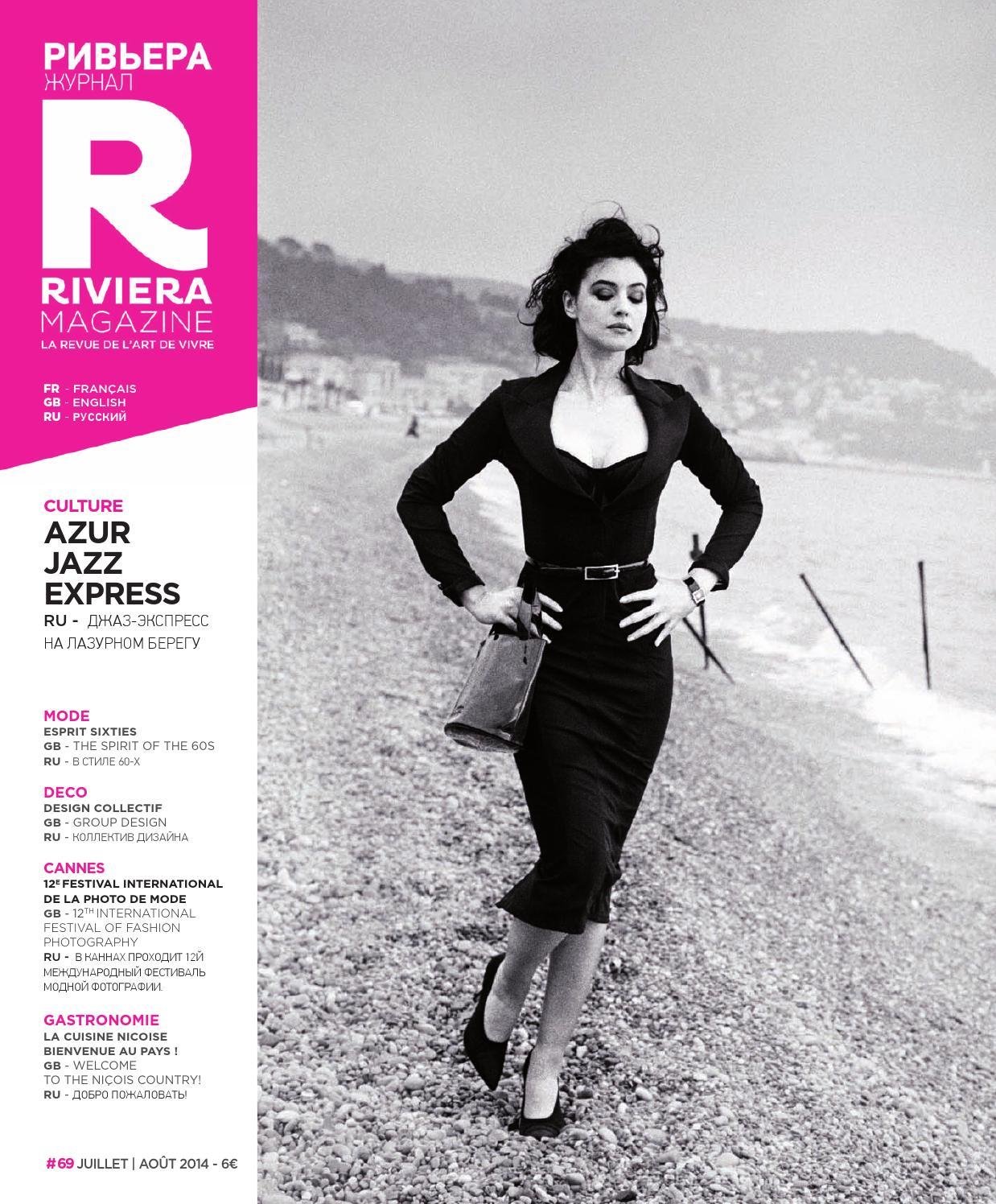 Riviera Magazine n°69 - juillet août 2014 by Riviera Magazine - issuu 53e5a275af1