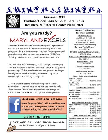 Child Care Links Newsletter by Child Care Links of Harford