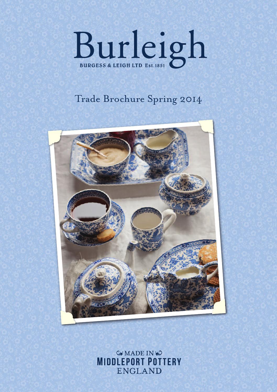 Burleigh pale blue felicity textiles tablecloth gauntlet apron tea towel