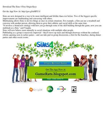 Download the sims 4 free origin keys by Kathleen Carline - issuu