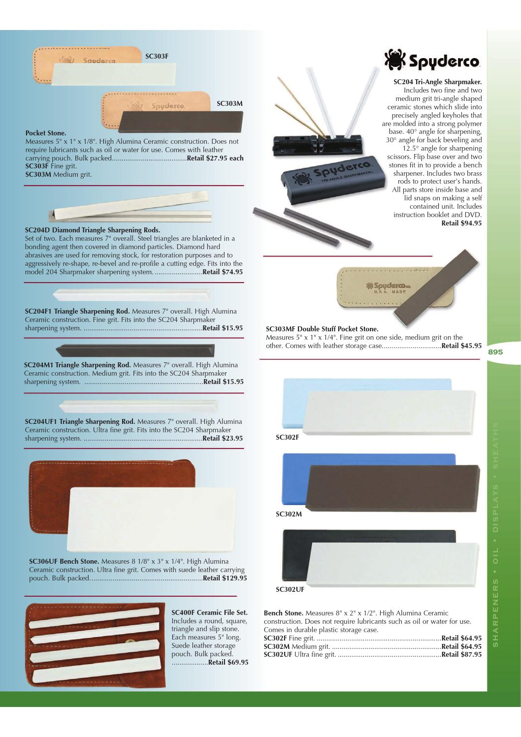 Spyderco Bench Hone Stone Sharpener Ultra Fine Grit Ceramic Bench Stone Polymer