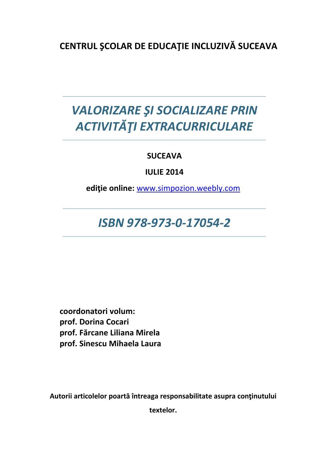 Calaméo - Publicatie Isbn Pledoarie Pentru Educatia Incluziva