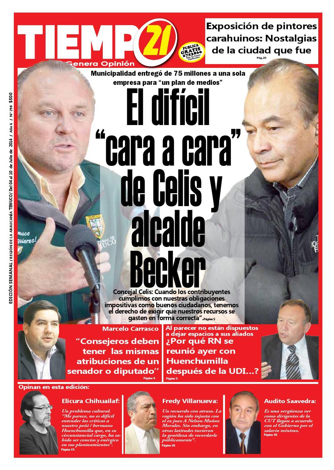 Edici N 290 El Dificil Cara A Cara De Celis Y Alcalde Becker By  # Muebles Caupolican San Carlos