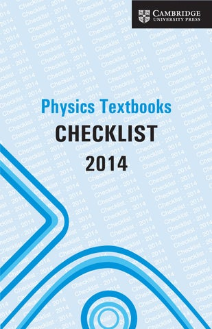 Physics textbooks from cambridge by cambridge university press issuu subject checklists physics fandeluxe Image collections