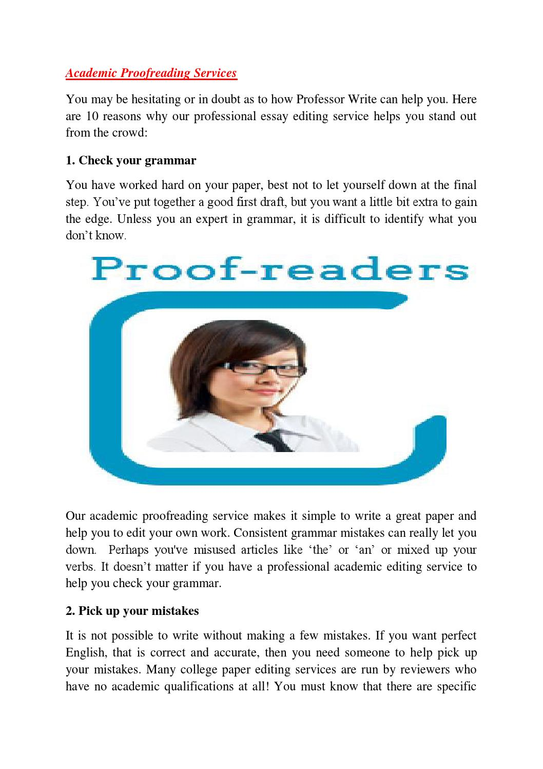 Academic proofreading services by Brendan Moloney - issuu