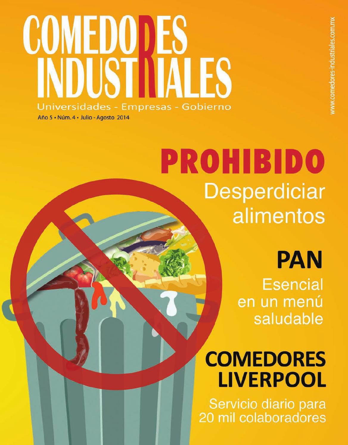 Comedores industriales julio agosto 2014 by editorial for Como hacer una propuesta para un comedor industrial