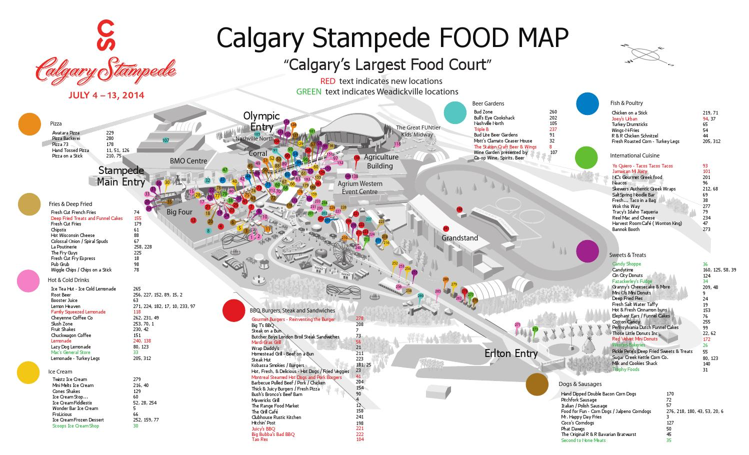 2014 Calgary Stampede Food Map By Nonfiction Studios Issuu