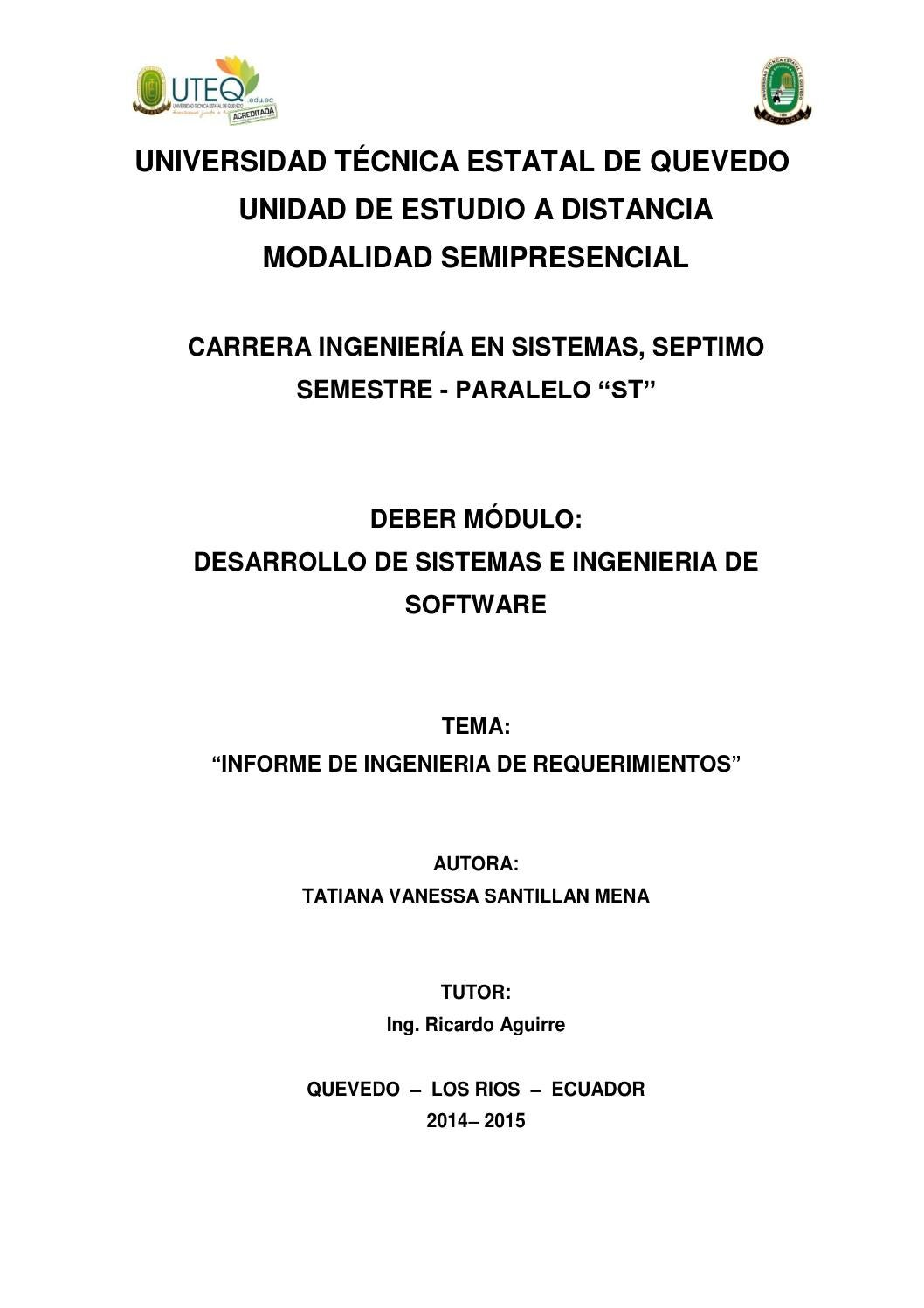 Informe ing requerimientos by Linda Taty - issuu