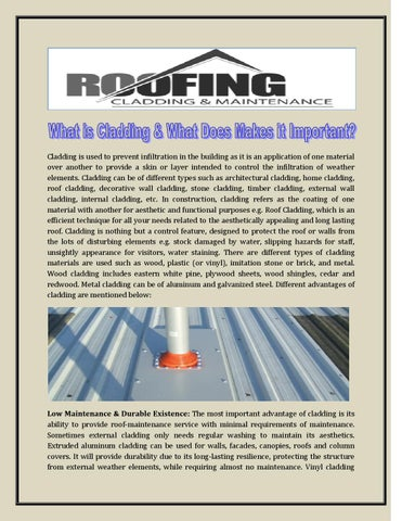 What is cladding & what does makes it important by