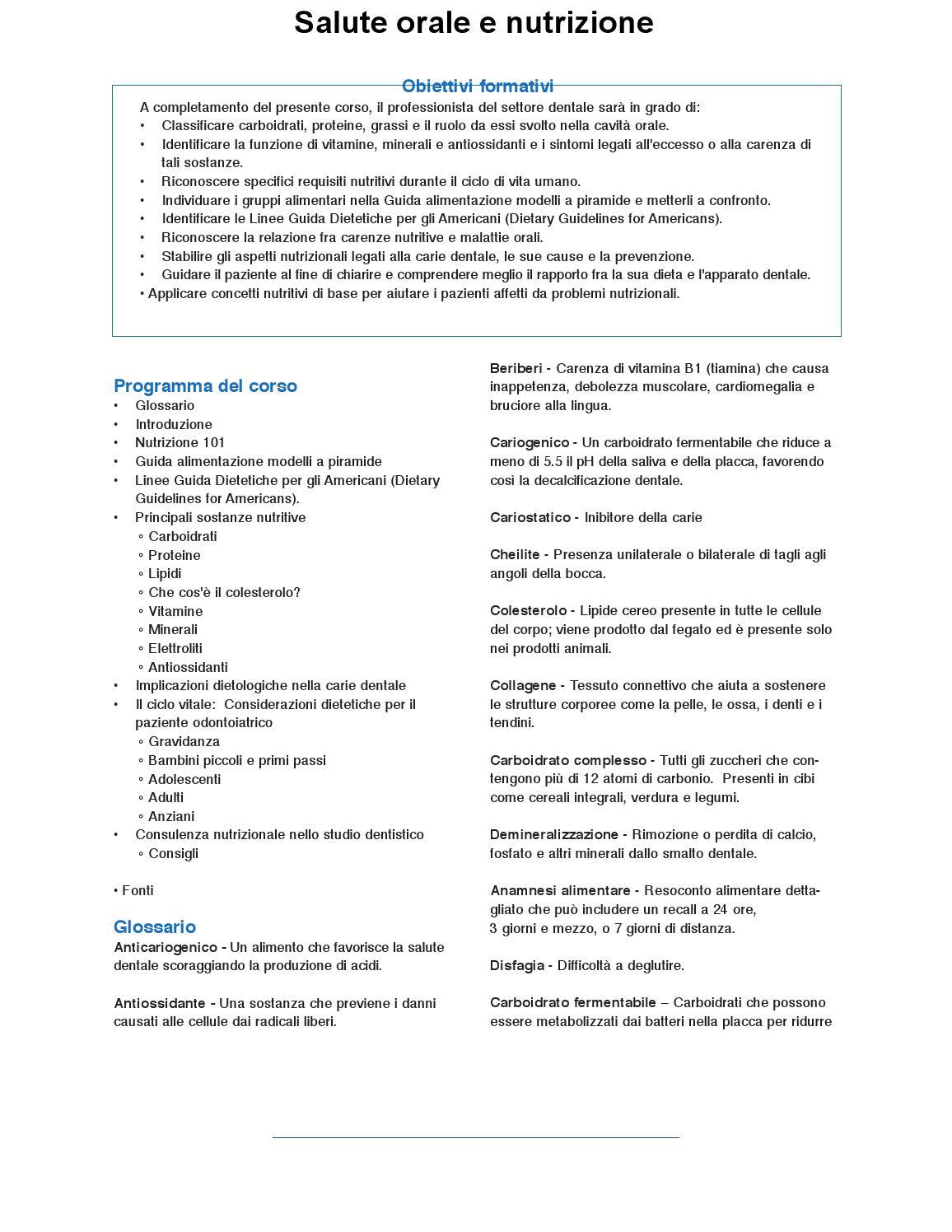 Salute Orale E Nutrizione Materiale Didattico By Odontofad Issuu