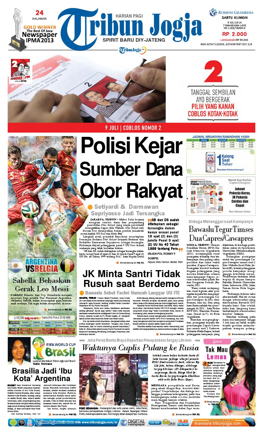 Tribunjogja 05 07 2014 By Tribun Jogja Issuu Produk Ukm Bumn Pusaka Coffee 15 Pcs Kopi Herbal Nusantara Free Ongkir Depok Ampamp Jakarta