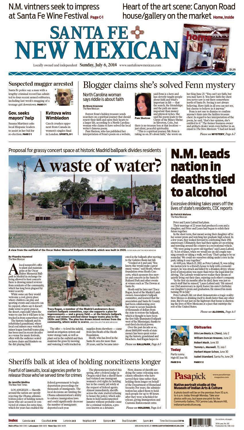 Santa Fe New Mexican, July 6, 2014 by The New Mexican - issuu