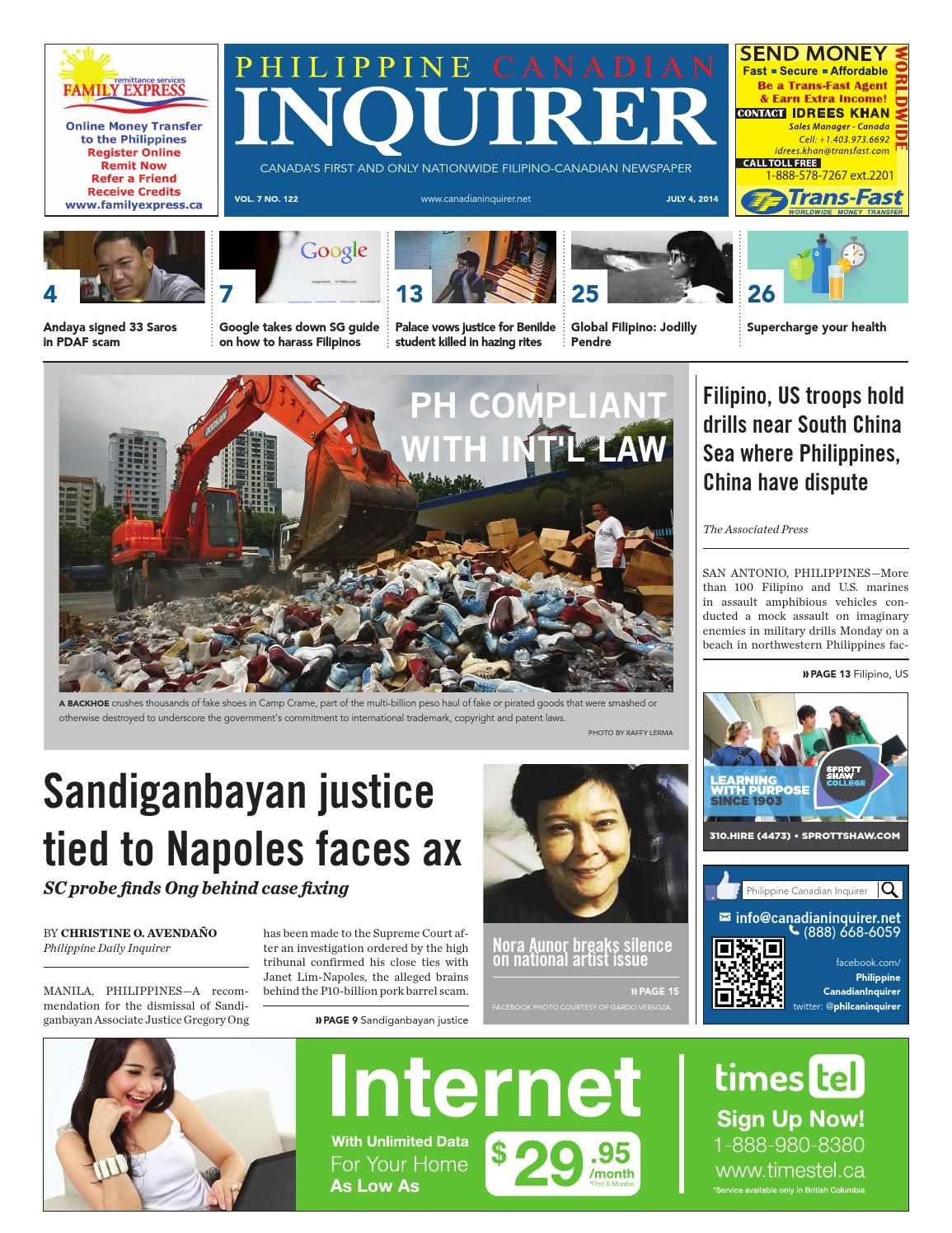 Philippine Canadian Inquirer Issue #122 by Philippine Canadian Inquirer -  issuu