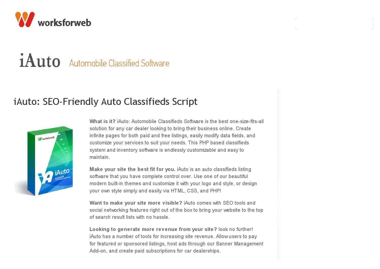 Iauto seo friendly auto classifieds script by WorksForWeb - issuu