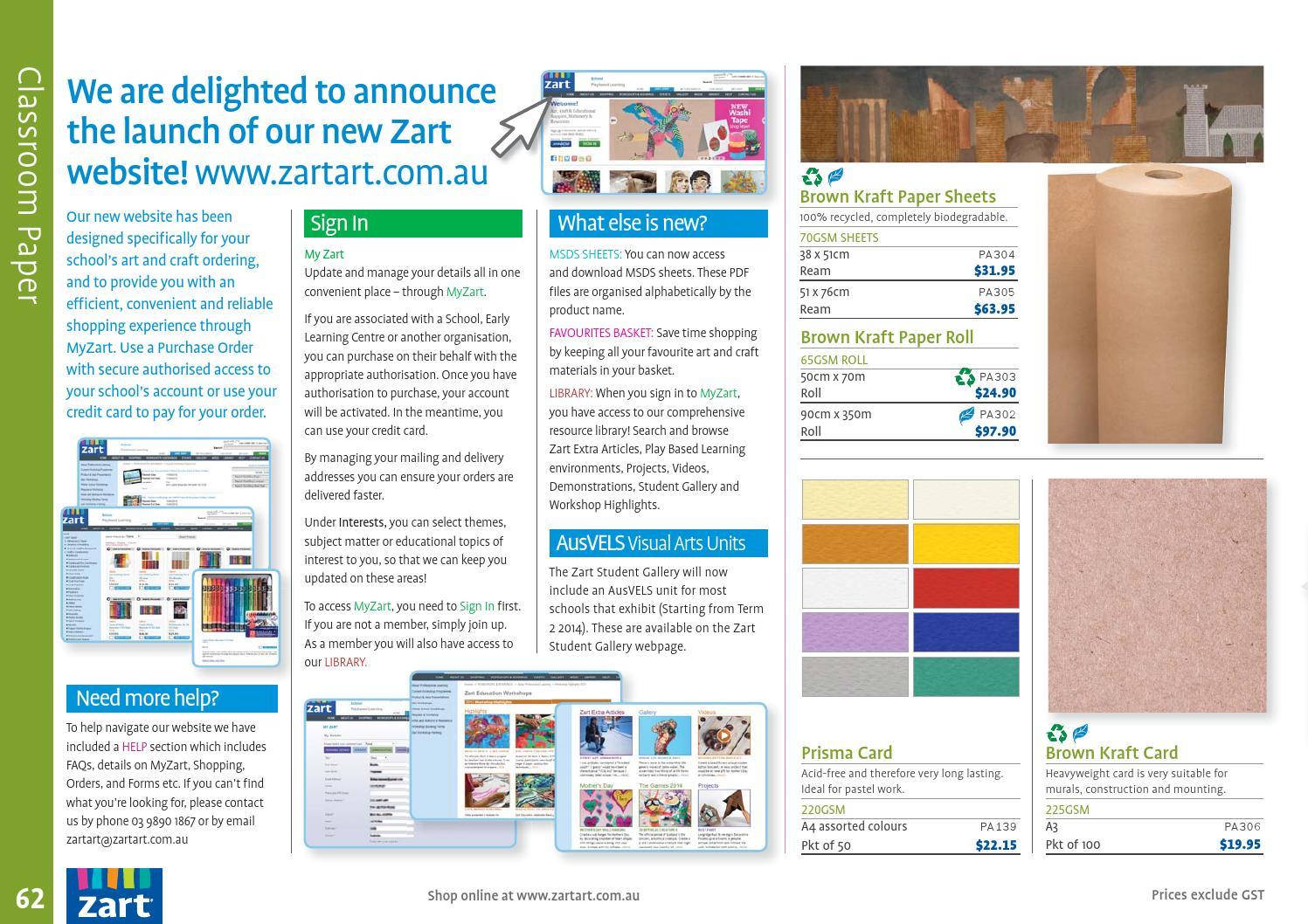 Zart Christmas Catalogue 2014 By Zart Art Craft And Education