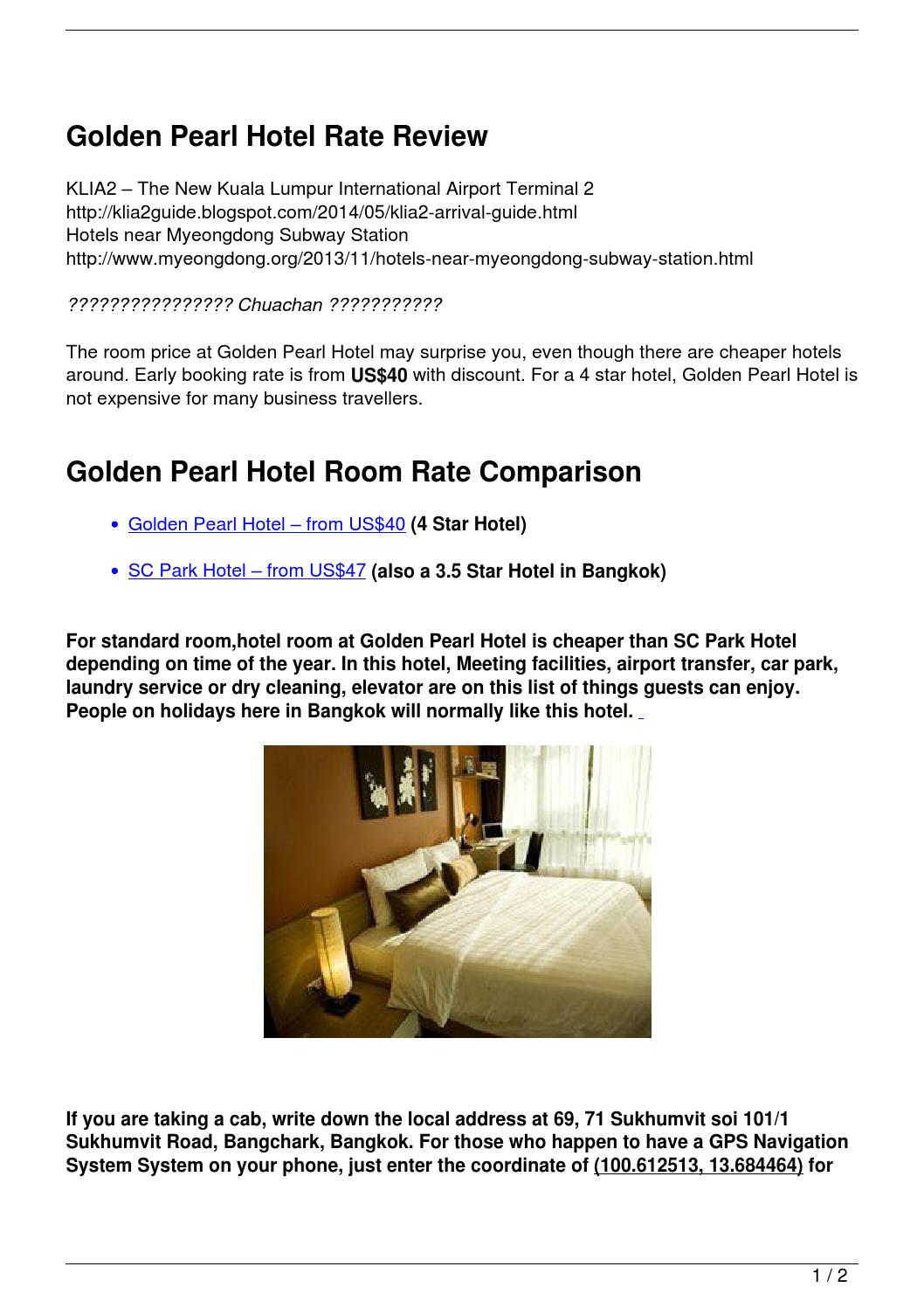 Golden Pearl Hotel Rate Review by Quick Sweet - issuu