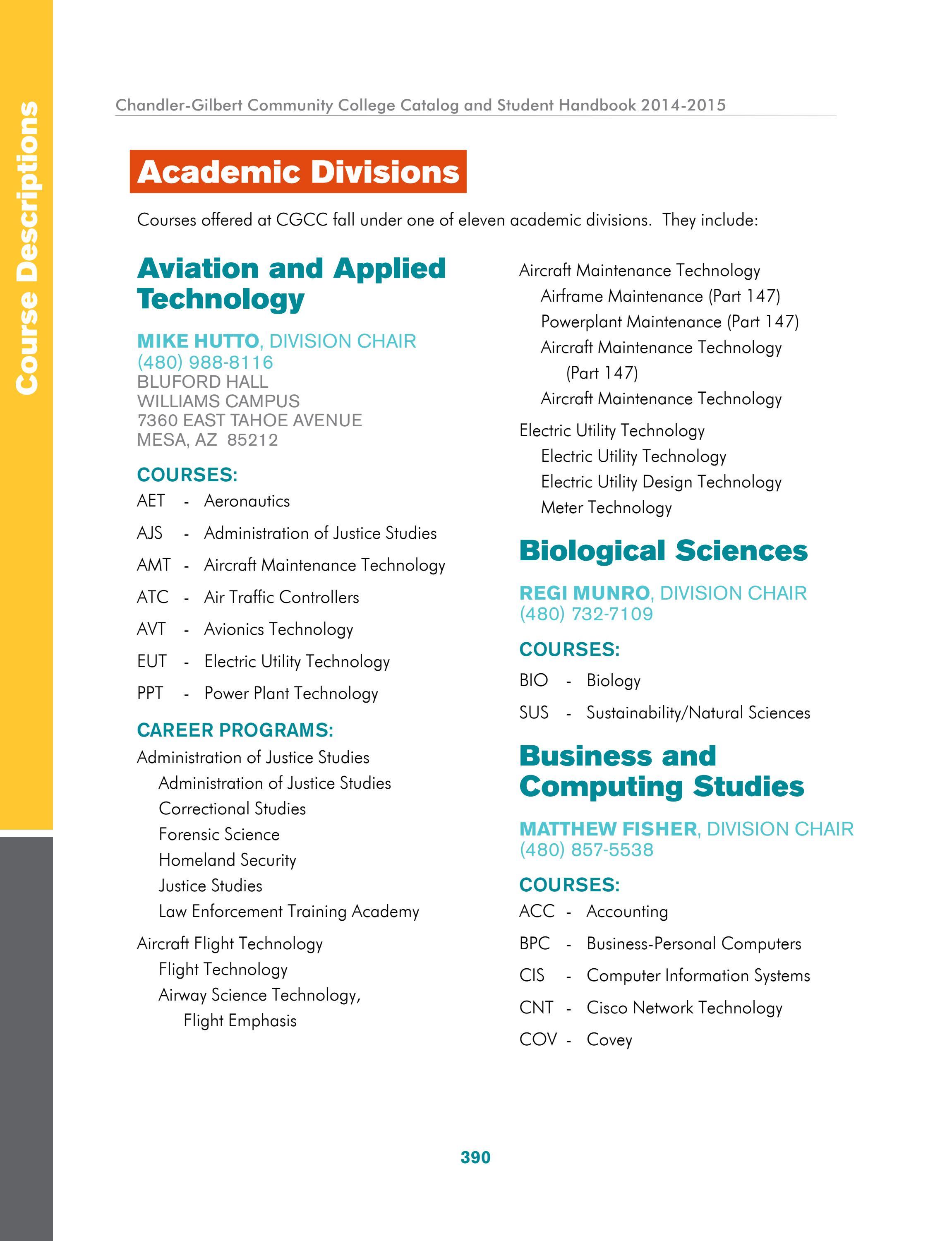 2014-2015 CGCC Catalog & Handbook (Part 2 of 2) by The