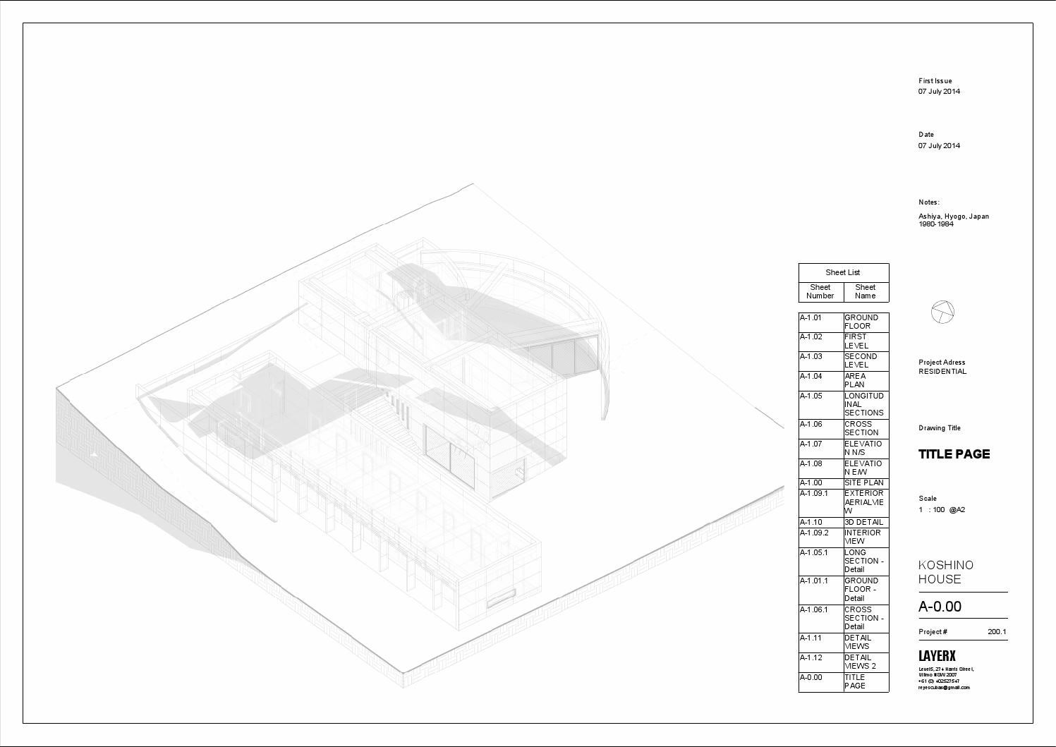 KOSHINO HOUSE by scar Reyes issuu – Koshino House Floor Plan