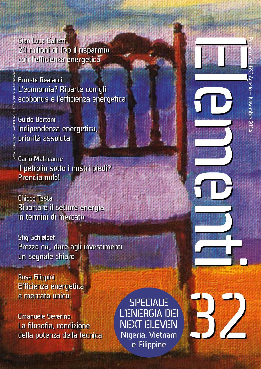 41ef5aad66b94 Elementi 32 - Agosto - Novembre 2014 by Gestore dei Servizi Energetici -  GSE S.p.A. - issuu