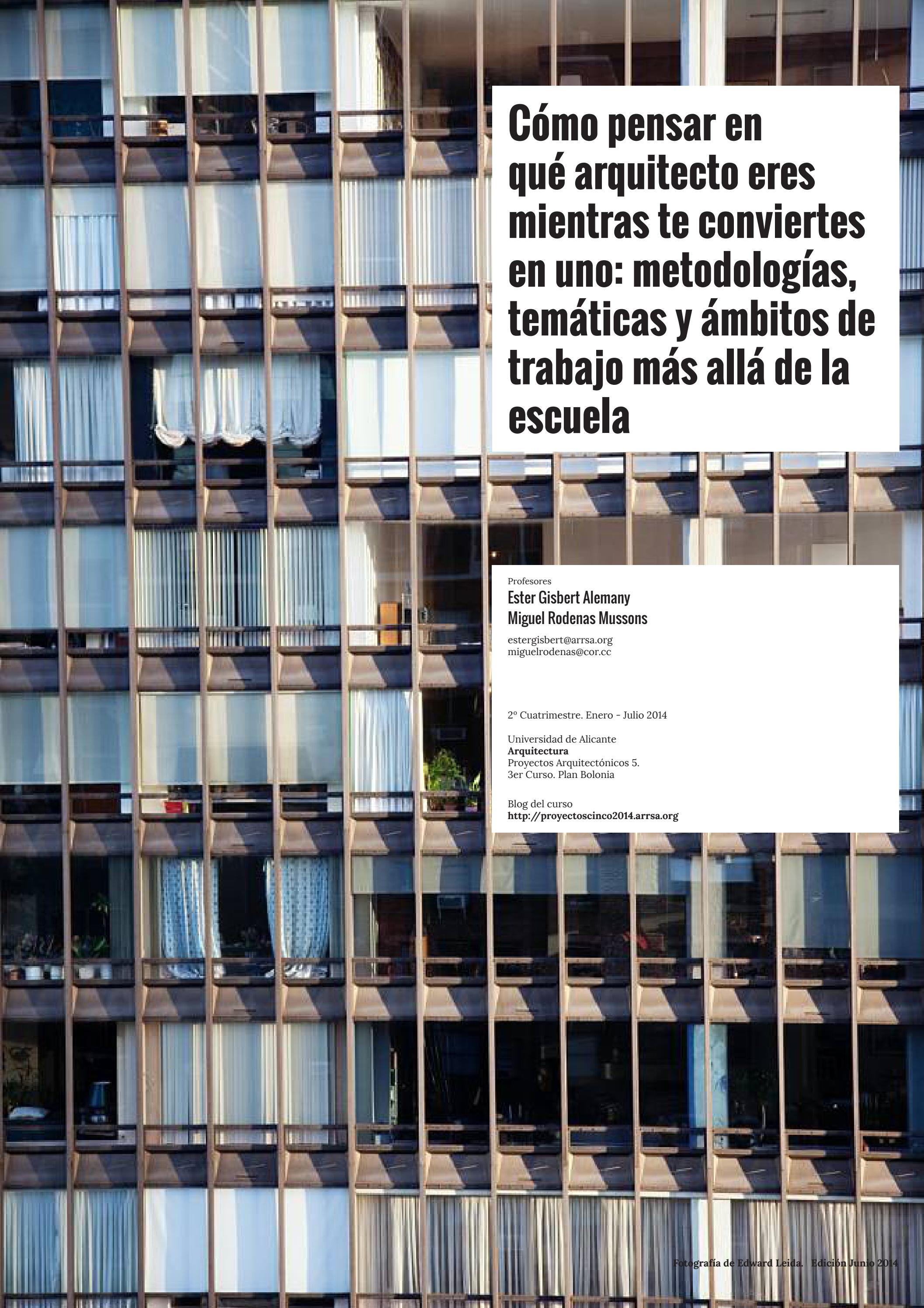 Cómo pensar en qué arquitecto eres mientras te conviertes en uno by Cor  Asociados - issuu 1206f00161ea
