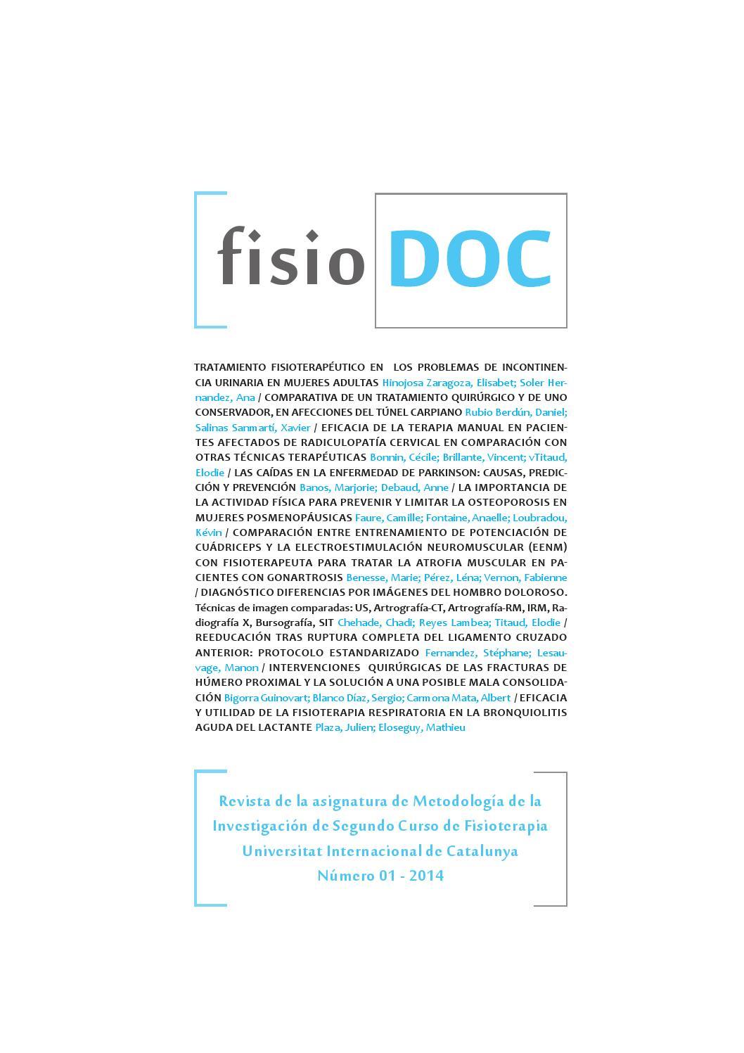 Fisiodoc num. 01 by Departament de Fisioteràpia. Universitat ...