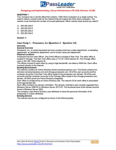 3542fe1492db Try Passleader 70-413 New Update Premium PDF Dumps (1-20) by ubliing ...