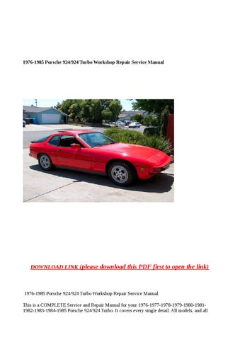 porsche 924 full service repair manual 1976 1985