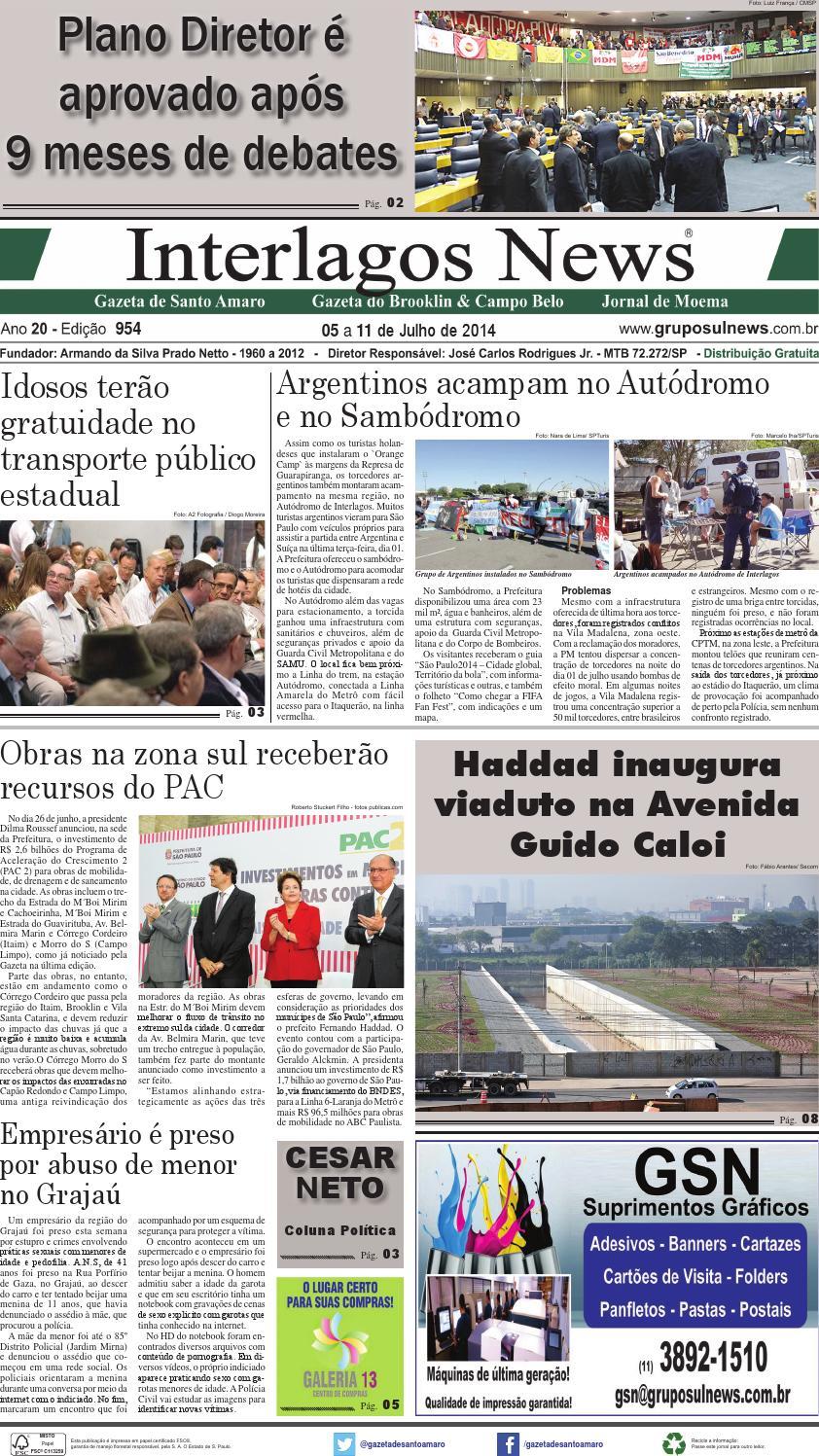 8df6ba756 Edição 954 - 05 a 11 de Julho de 2014 by Grupo Sul News - issuu