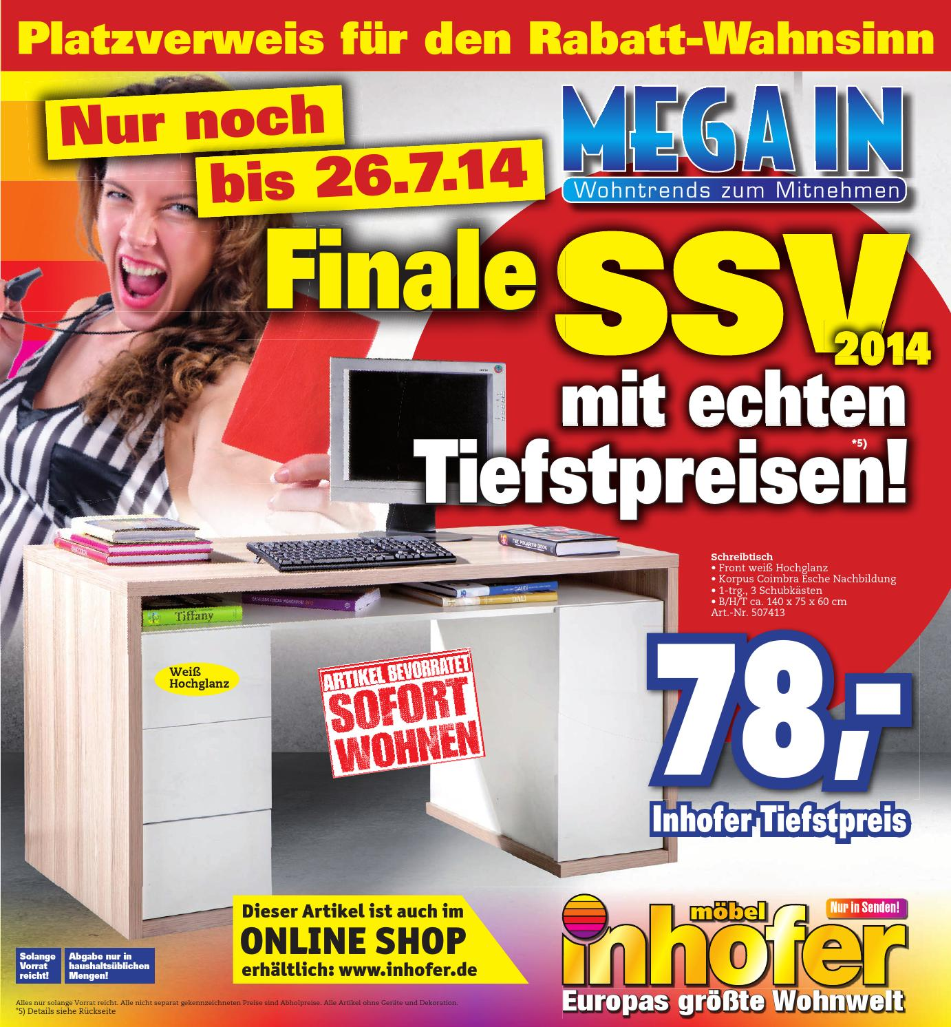 inhofer mega in prospekt kw 27 by media service ostalb gmbh issuu. Black Bedroom Furniture Sets. Home Design Ideas
