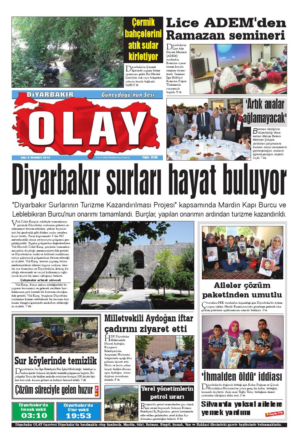 08 07 2014 Gazete Sayfalari By Diyarbakir Olaygazetesi Issuu