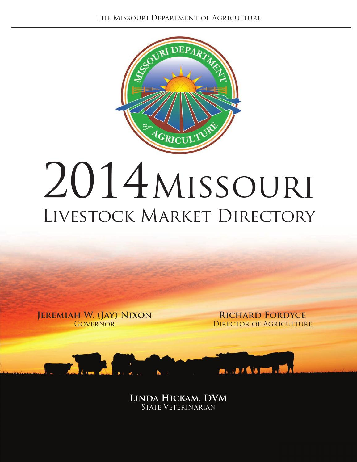 Mo livestock directory by MO Market News - issuu