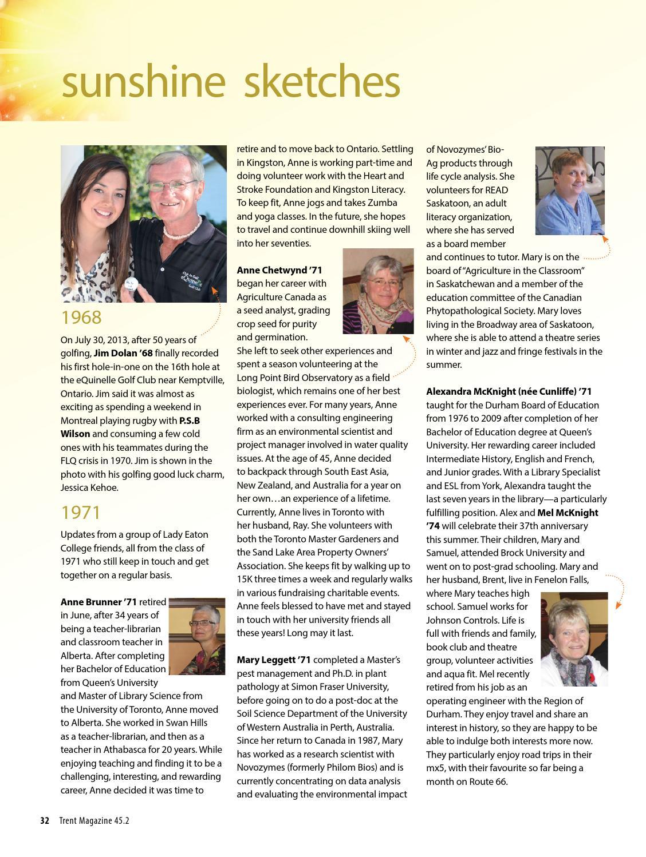 Trent Magazine - Spring 2014 by Trent University - issuu