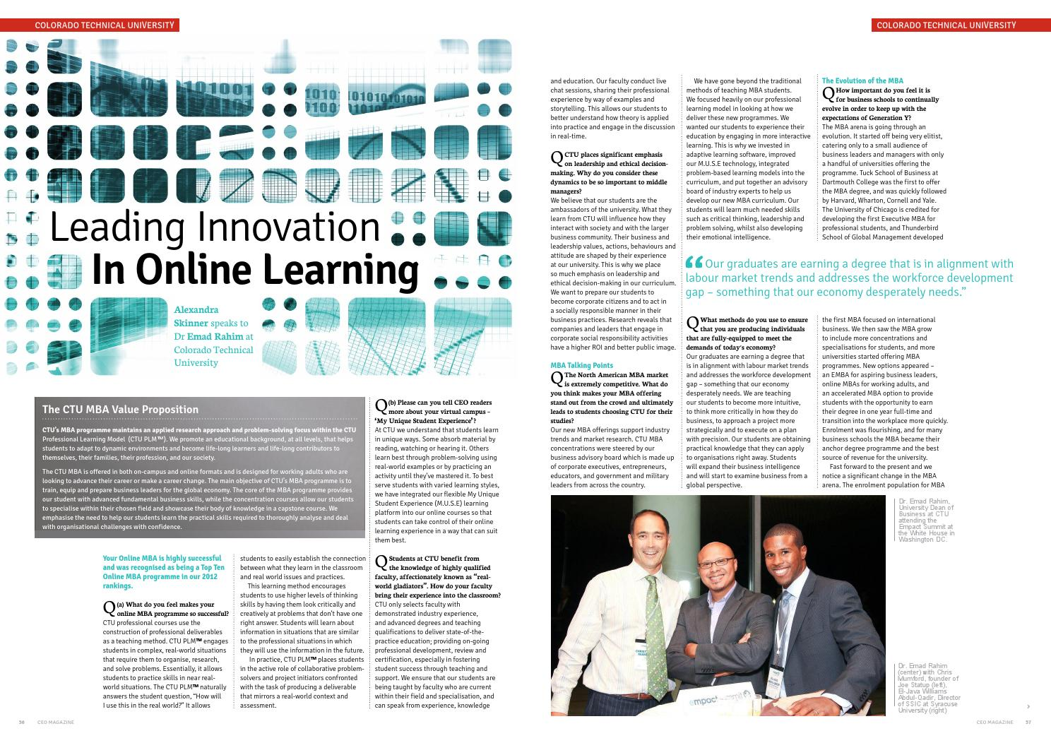 Innovation in Online Education with Emad Rahim by Alexandra