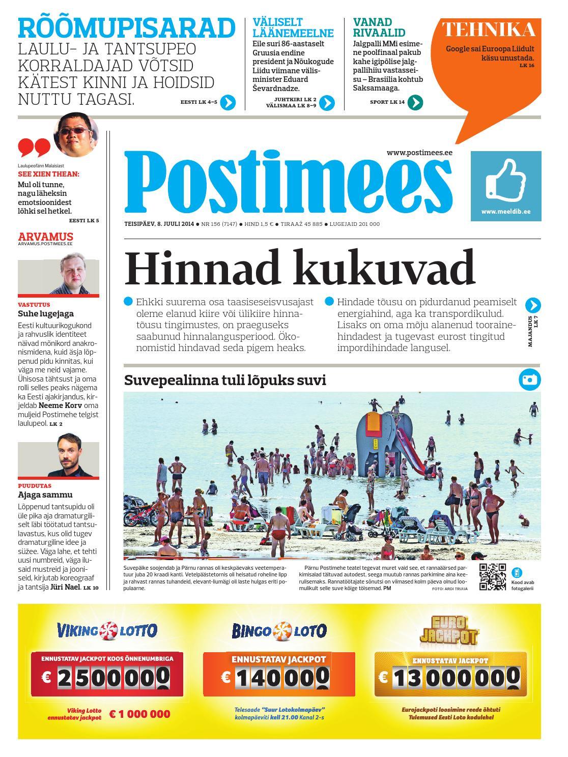 14d3a5d9873 Postimees 08 07 2014 by Postimees - issuu