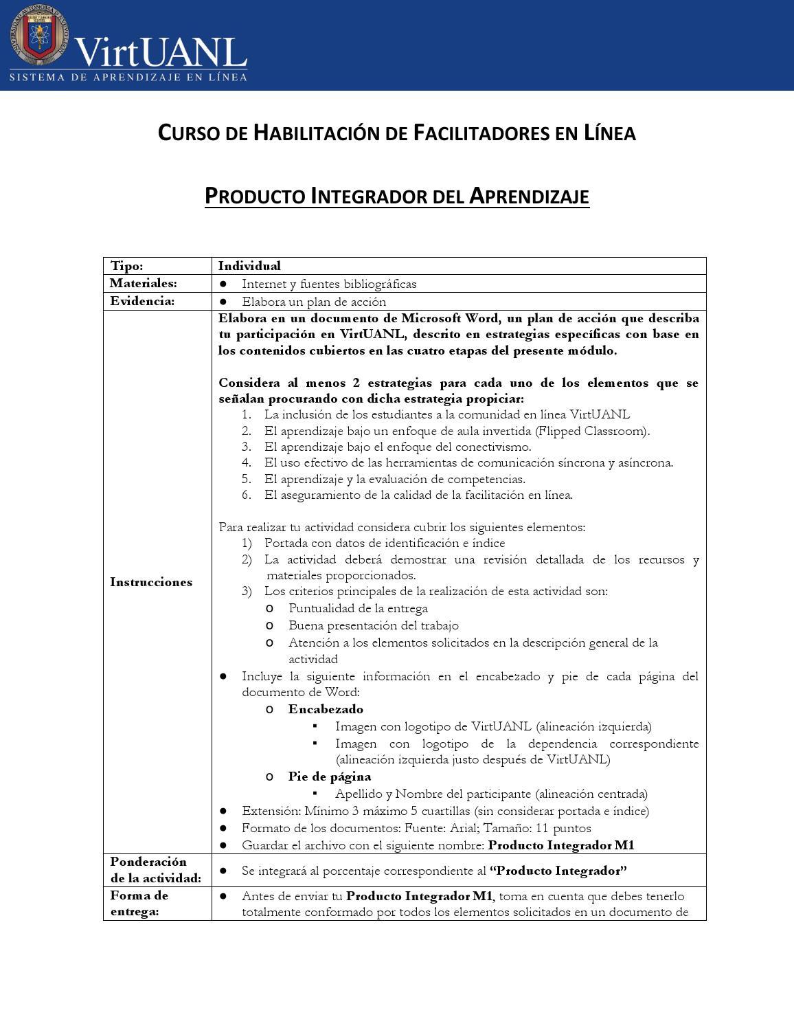 Producto integrador del aprendizaje by VirtUANL - issuu