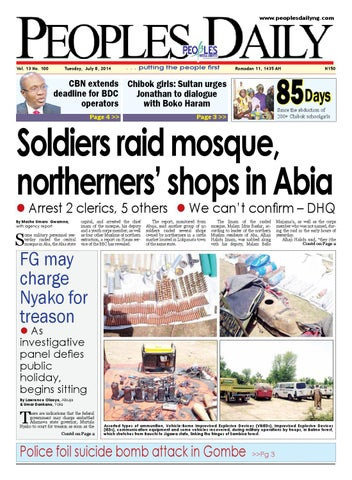 Tuesday 8th July 2014 Edition By Peoples Media Limited Issuu