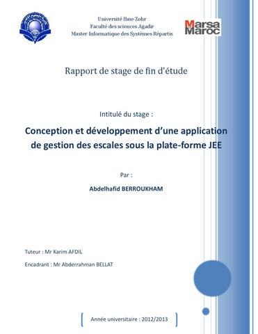 Rapport de stage conception et d veloppement d une for Stage de gestion chambre des metiers