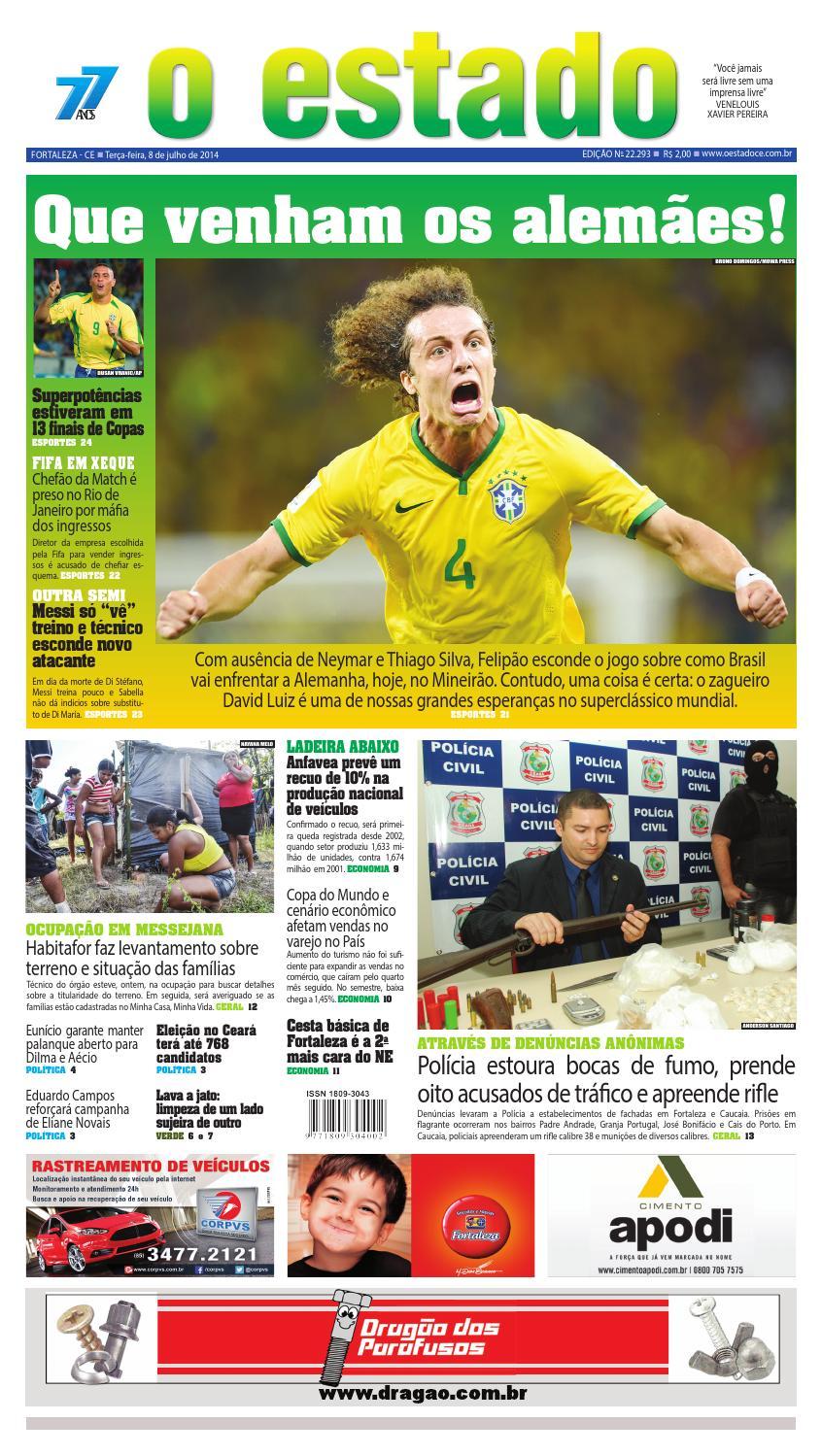 9c6e962a20 Edição 22293 - 08 de julho de 2014 by Jornal O Estado (Ceará) - issuu