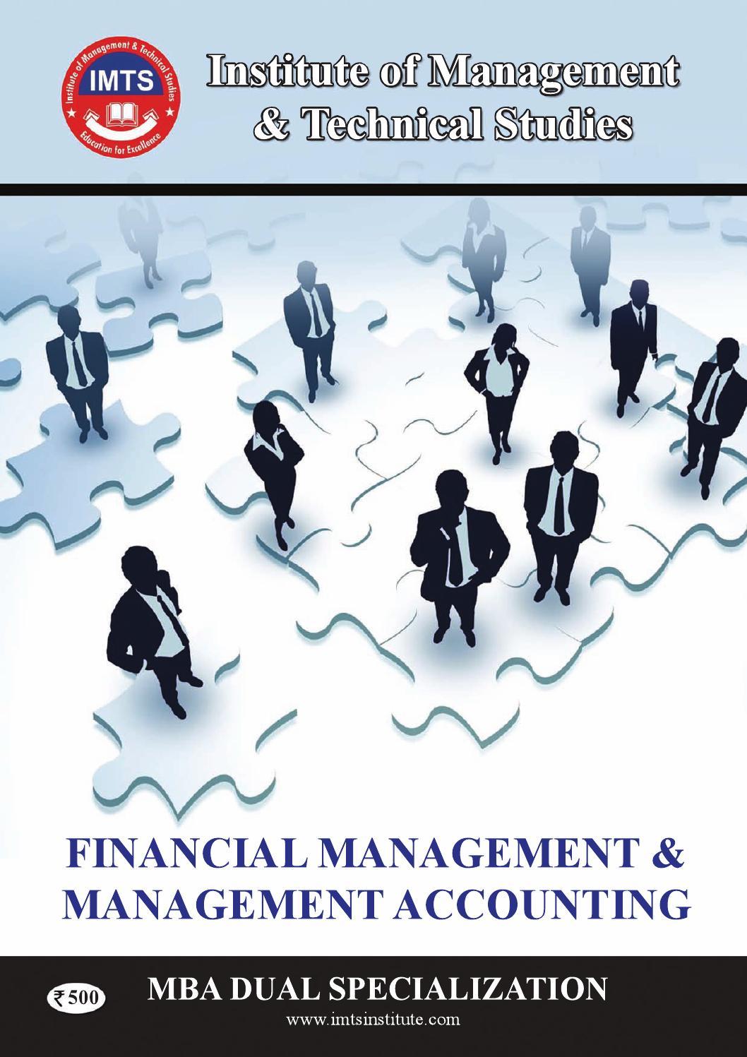 MBA DUAL SPEC  ( Financial Management & Management